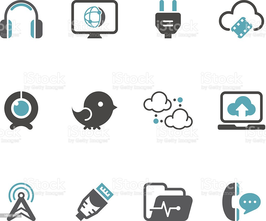 Communication Icon Set | Concise Series vector art illustration