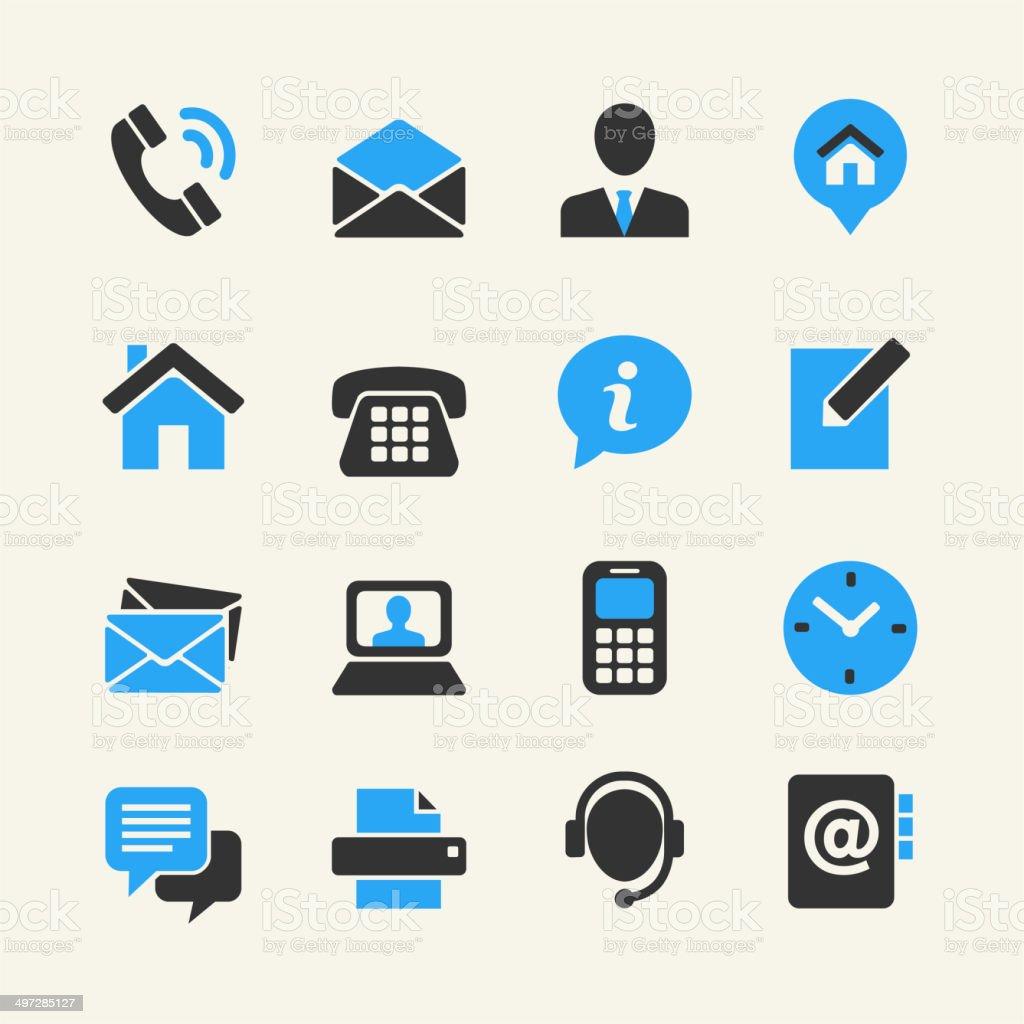 Communication icon set vector art illustration