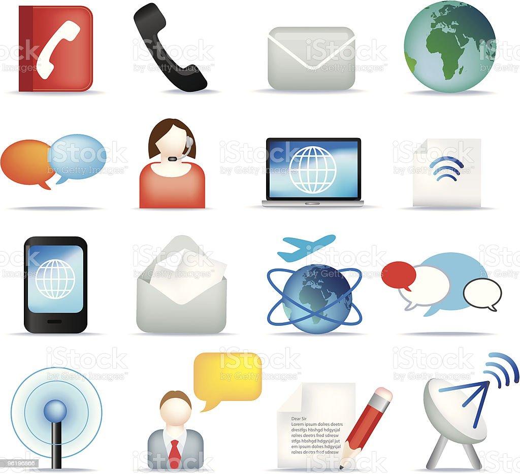 Kommunikation icon-set Lizenzfreies vektor illustration