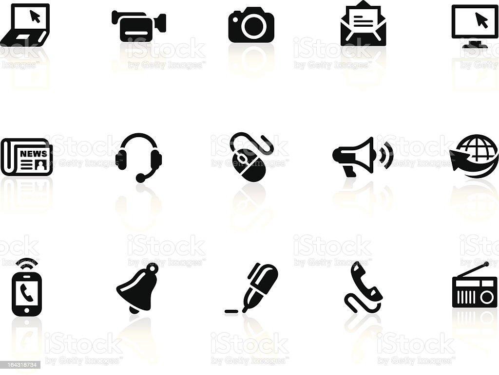 Communication icons 1 vector art illustration