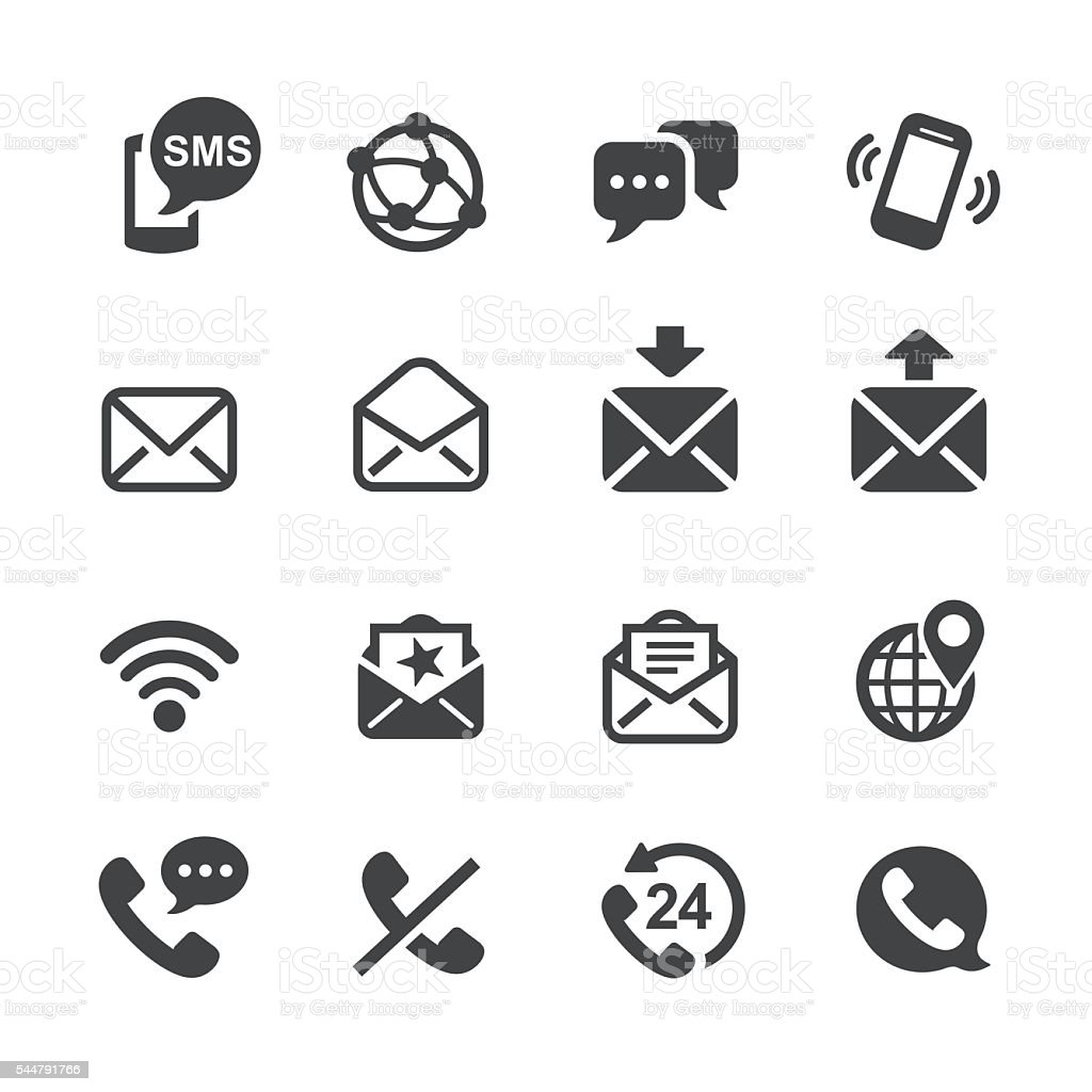 Communication Icons - Acme Series vector art illustration