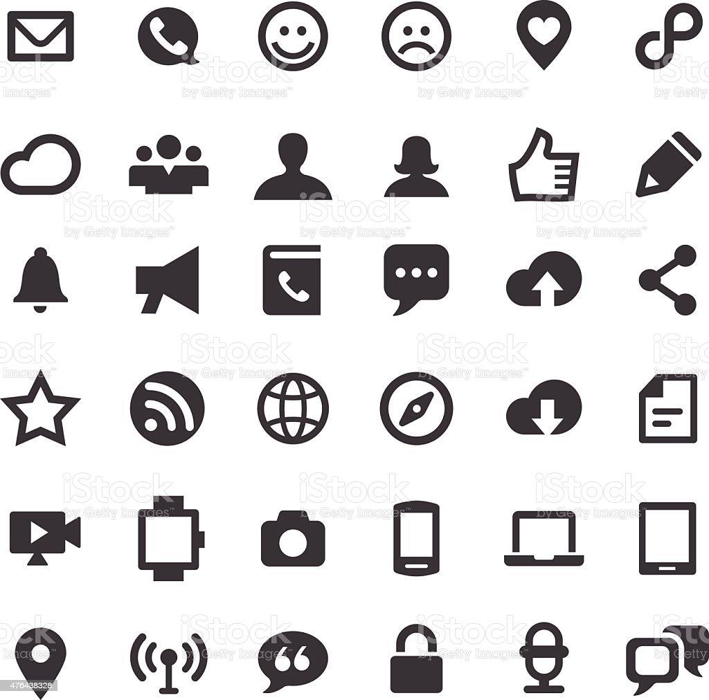 Communication Icons - Big Series vector art illustration