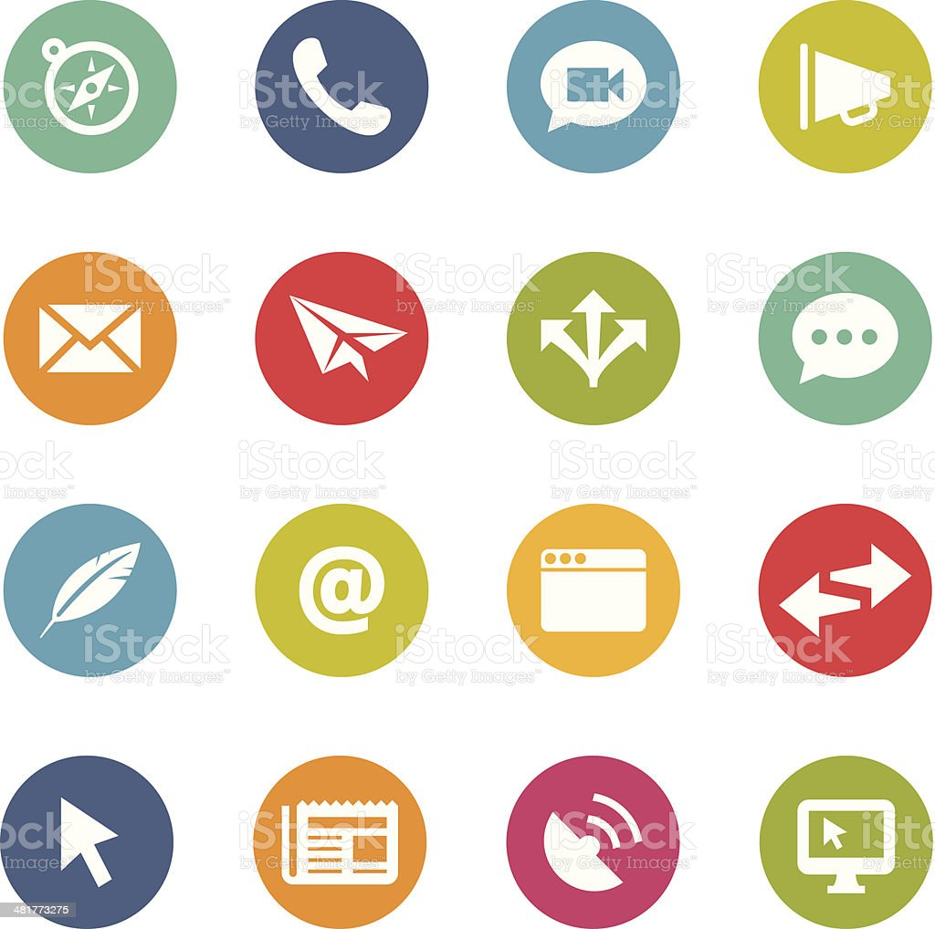 Communication Icons | Circle Series vector art illustration