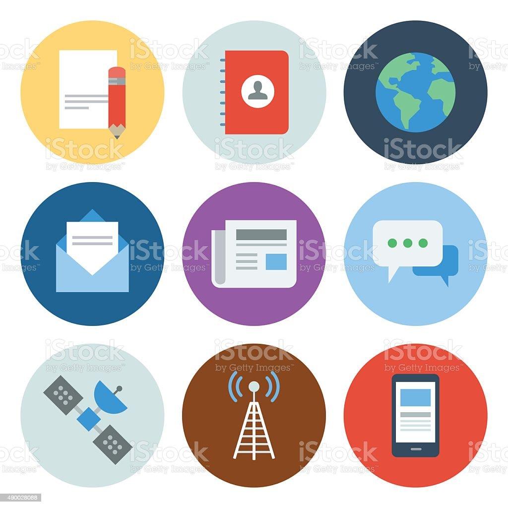 Communication Icons — Circle Series vector art illustration