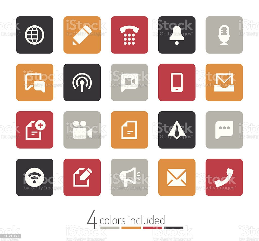 Communication icons | echo series royalty-free stock vector art