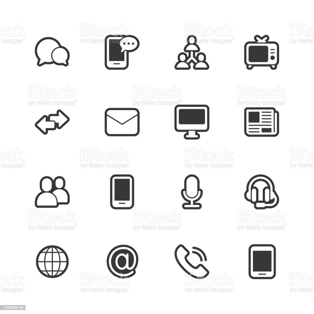 Communication icons - Regular Outline vector art illustration