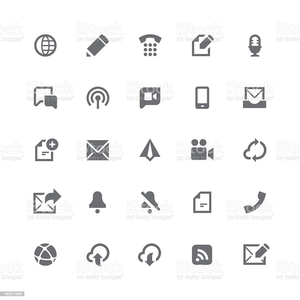 Communication icons | retina series vector art illustration