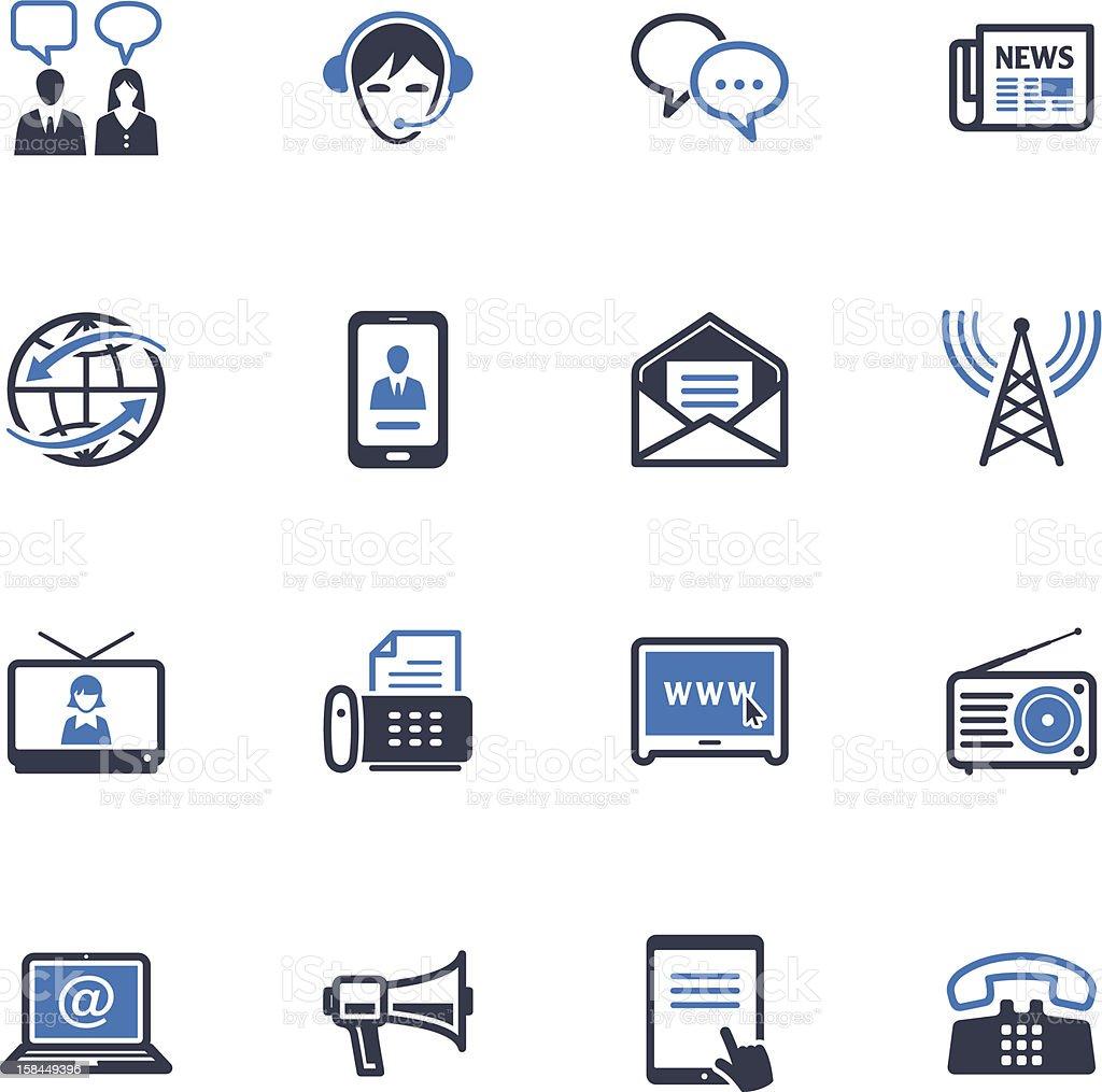Communication Icons Set 2 -  Blue Series vector art illustration