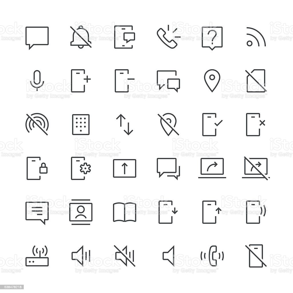 Communication icons set 2 | Thin Line series vector art illustration