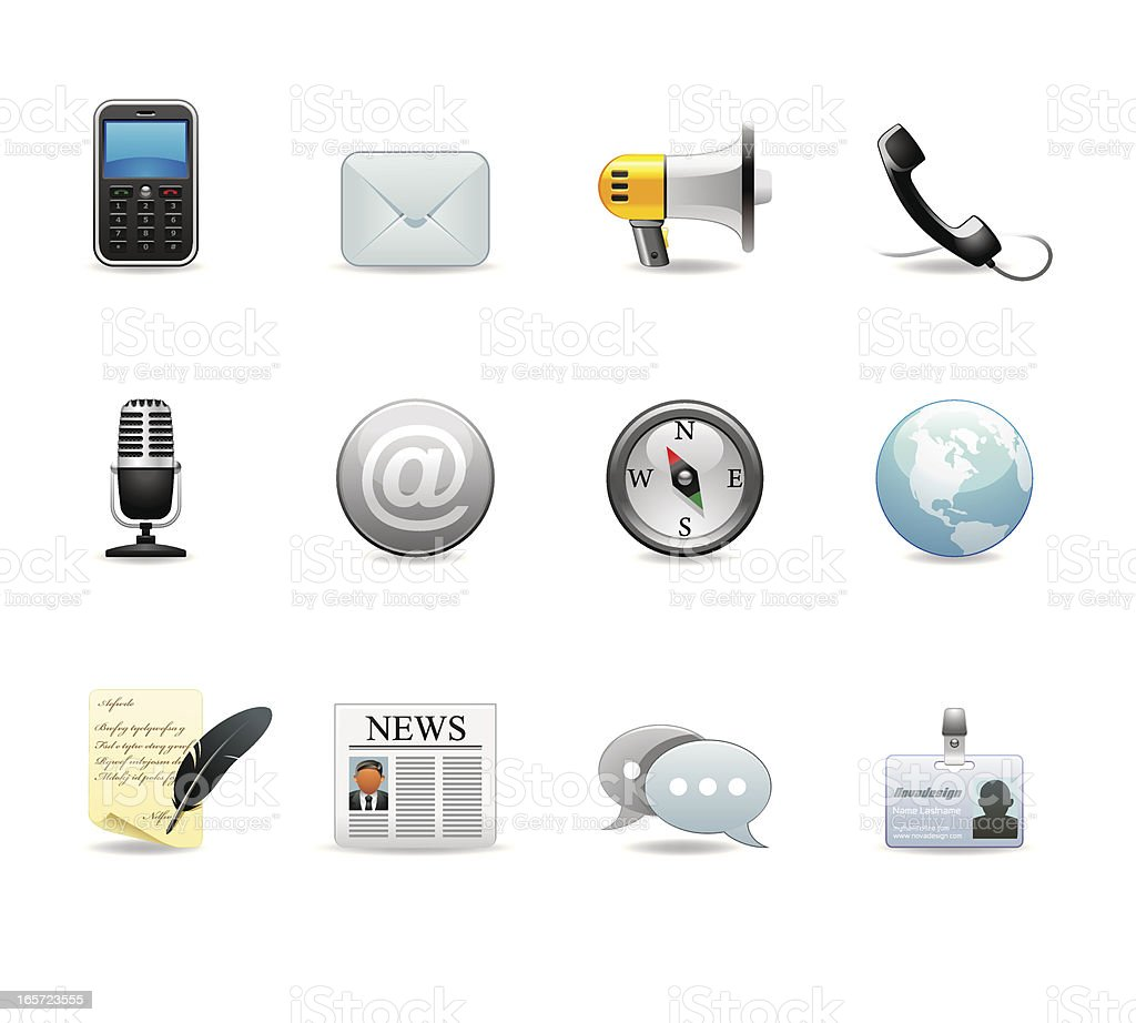 Communication icons set 2 royalty-free stock vector art