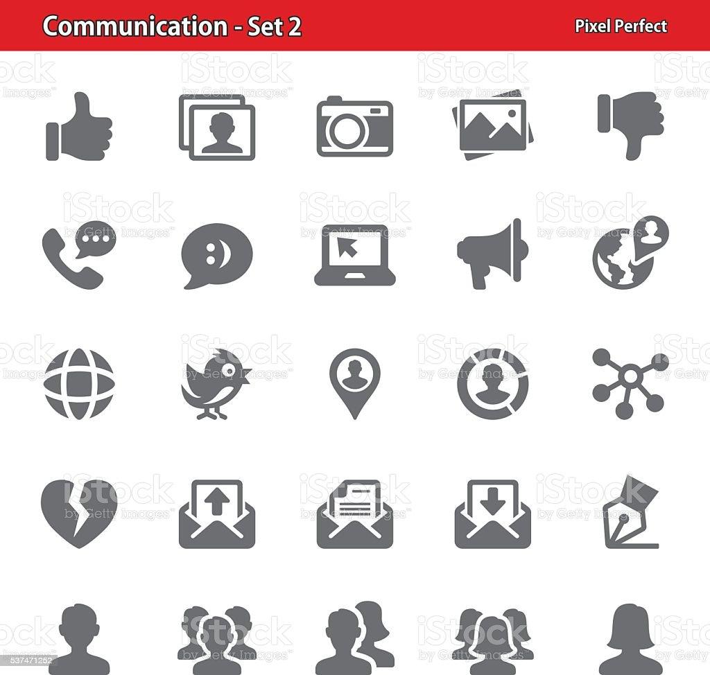 Communication Icons - Set 2 vector art illustration