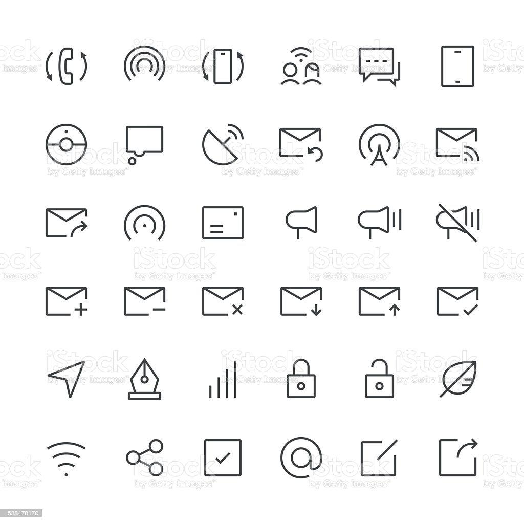 Communication icons set 4 | Thin Line series vector art illustration