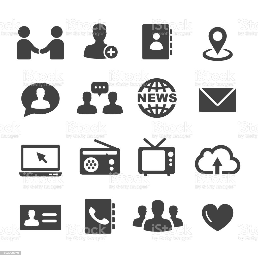 Communication Icons Set - Acme Series vector art illustration