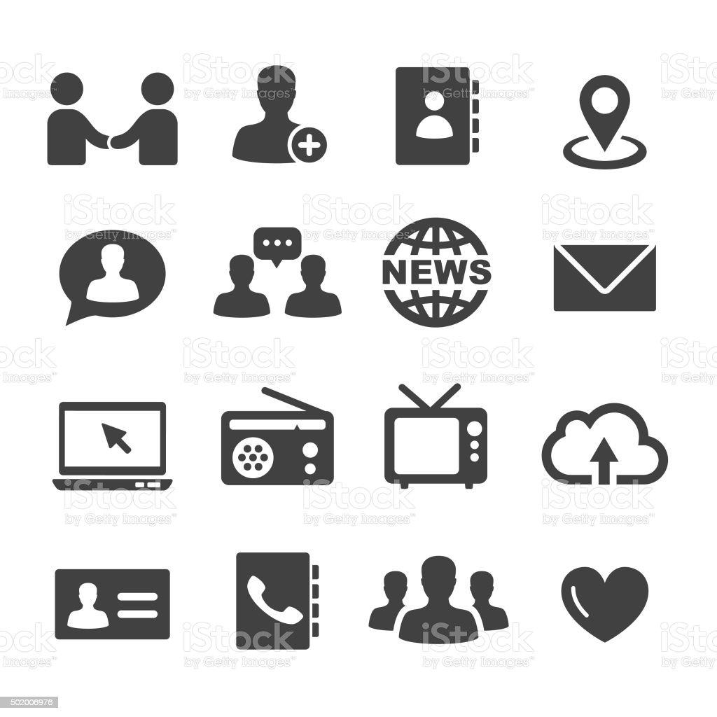 Communication Icons Set - Acme Series vector art illustration