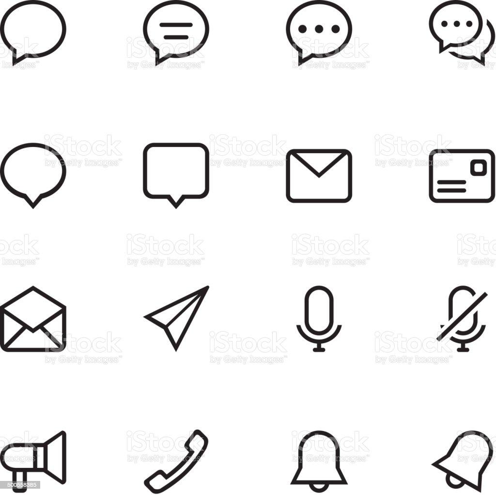 Communication icons set royalty-free stock vector art