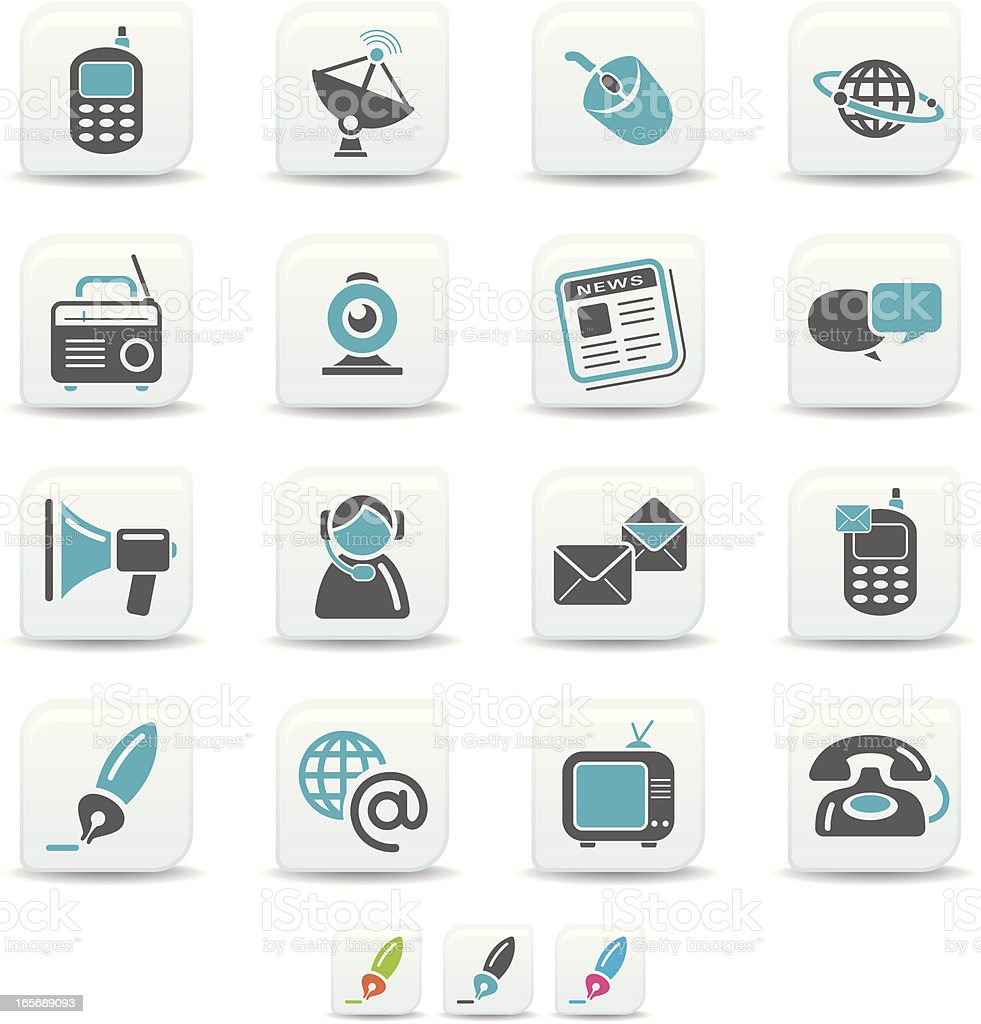 communication icons | simicoso collection royalty-free stock vector art