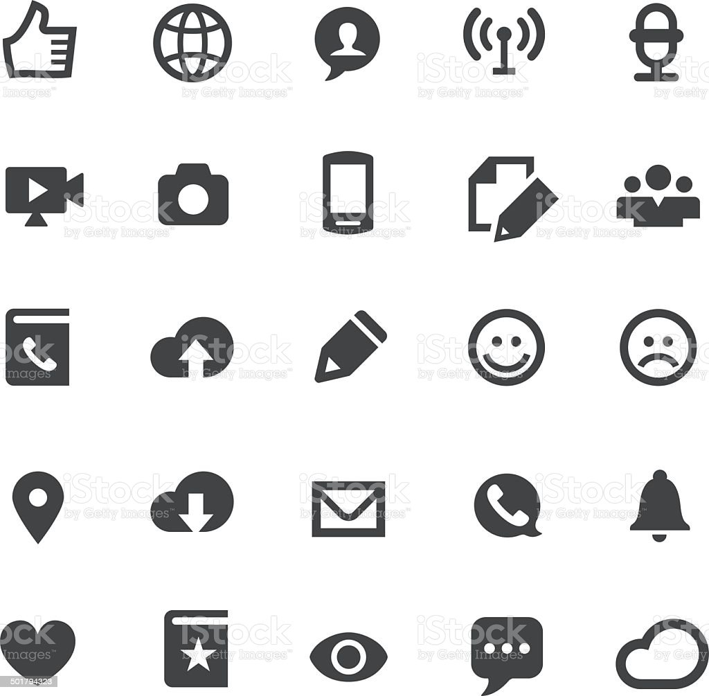 Communication Icons - Smart Series vector art illustration