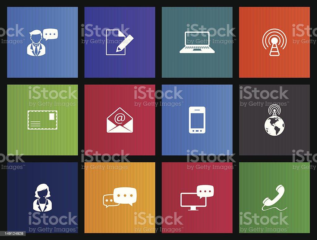 Communication Icons stock photo