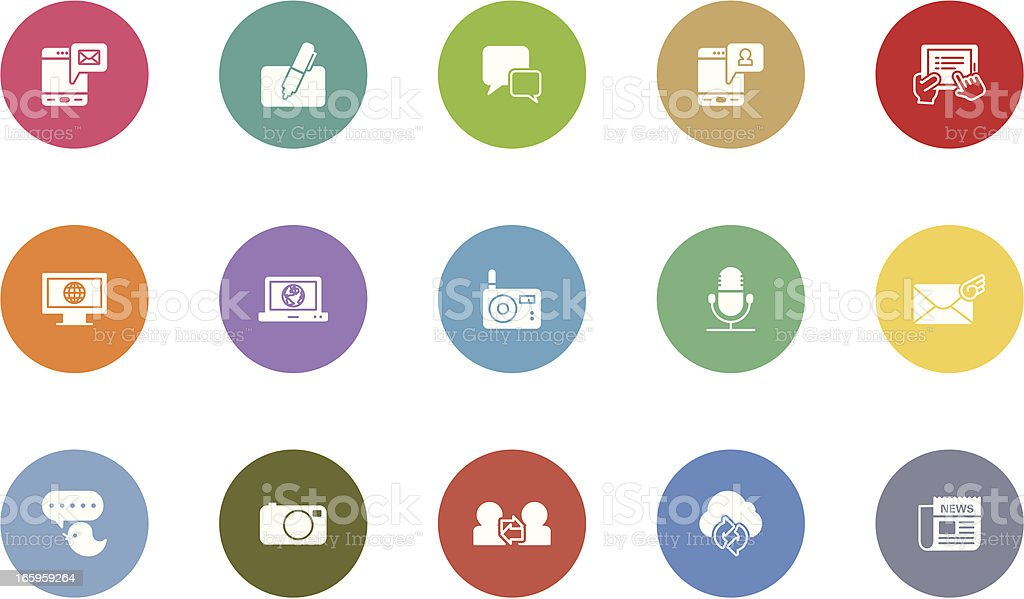 communication icons royalty-free stock vector art