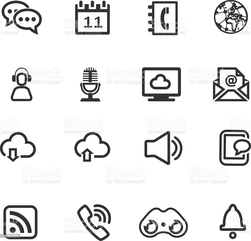 Communication Icons vector art illustration