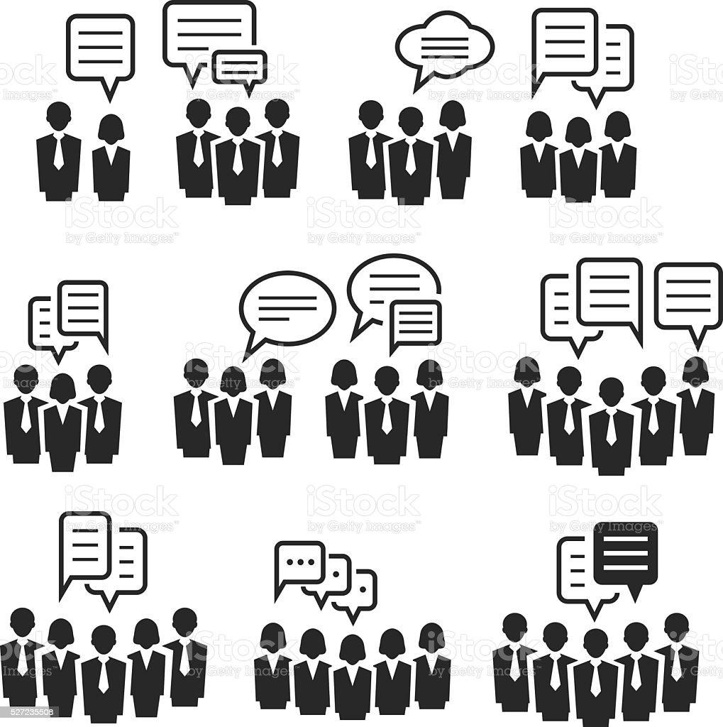Communication icons vector art illustration