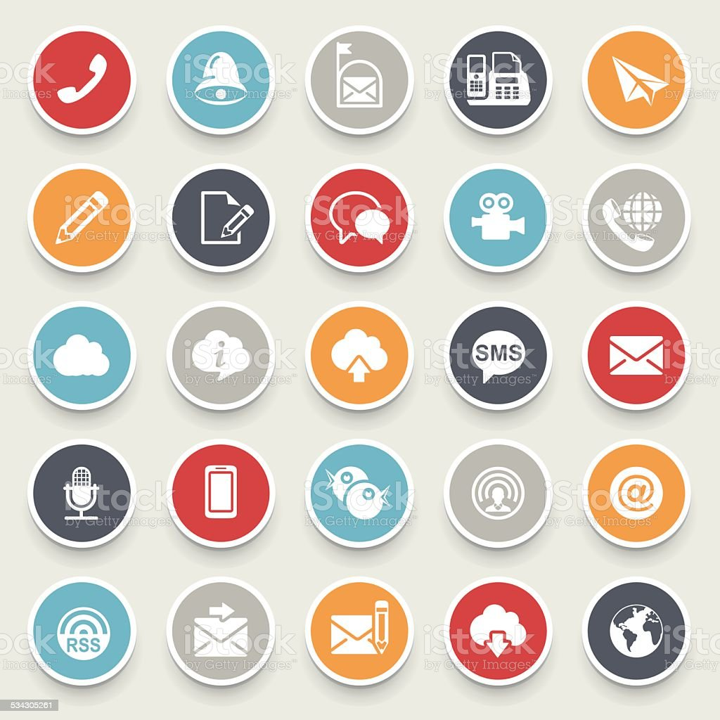 Communication icons. vector art illustration