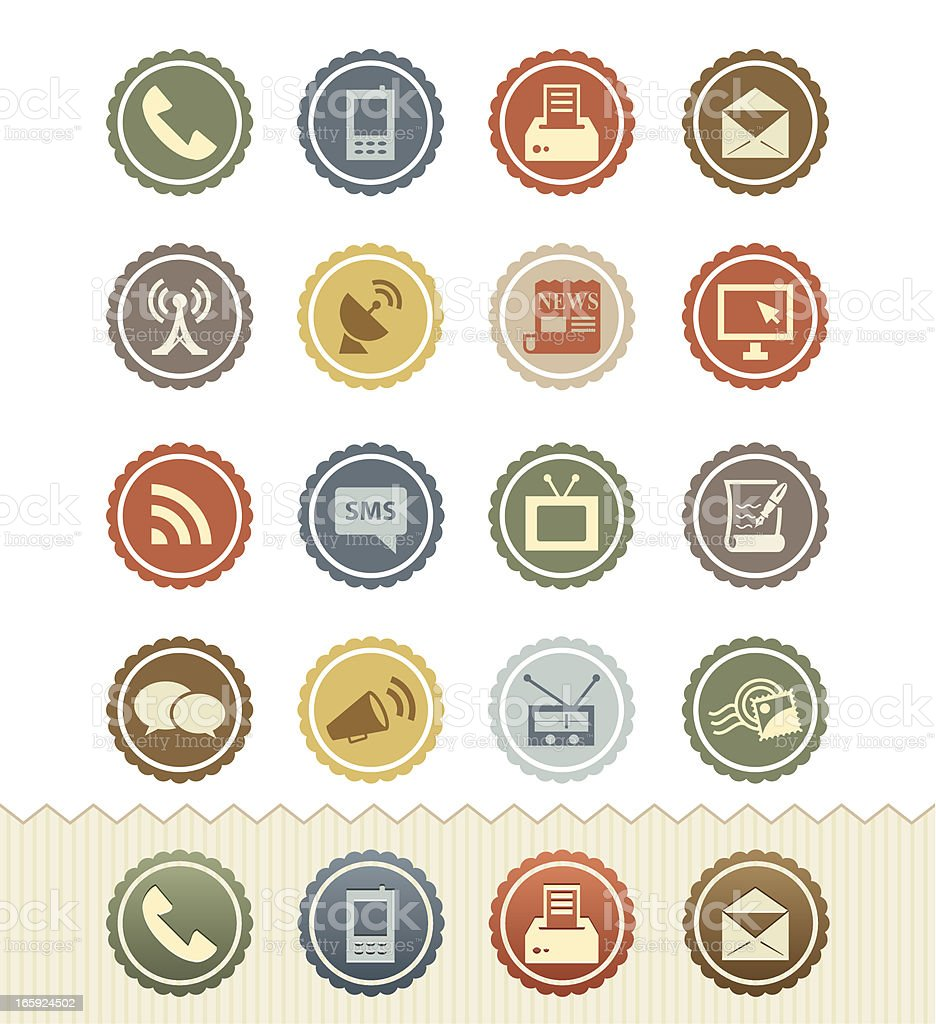 Communication Icons : Vintage Badge Series royalty-free stock vector art