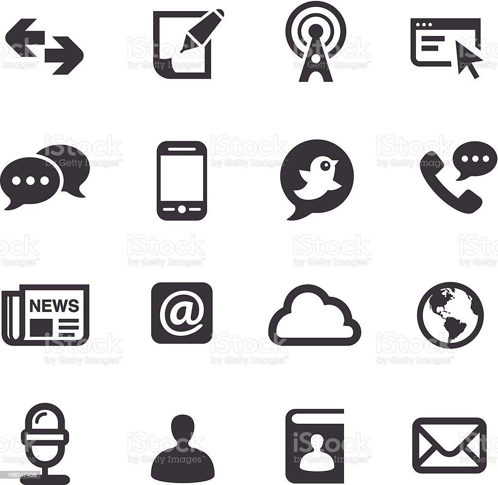 Communication Icons-Acme Series vector art illustration
