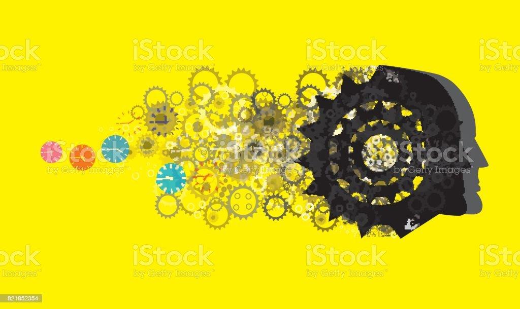 Communication, Ideas, vector art illustration