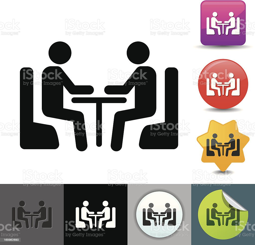 Communication in the real world icon   solicosi series vector art illustration