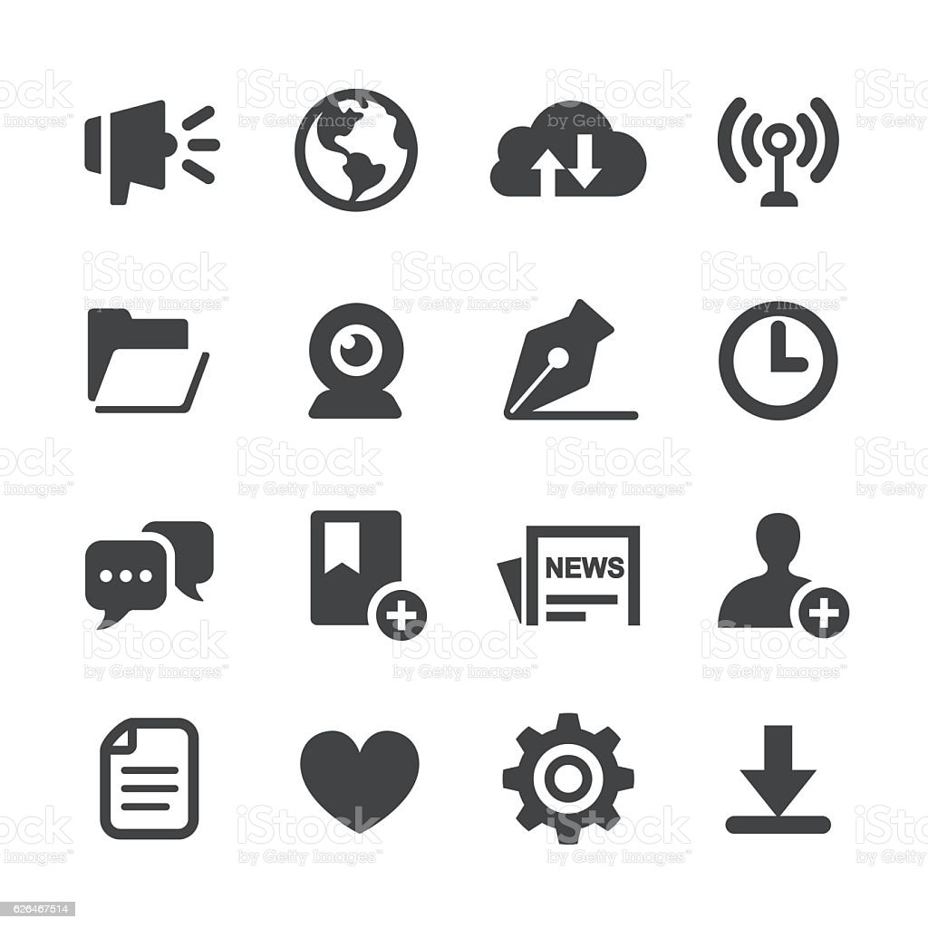 Communication Interface Icons - Acme Series vector art illustration