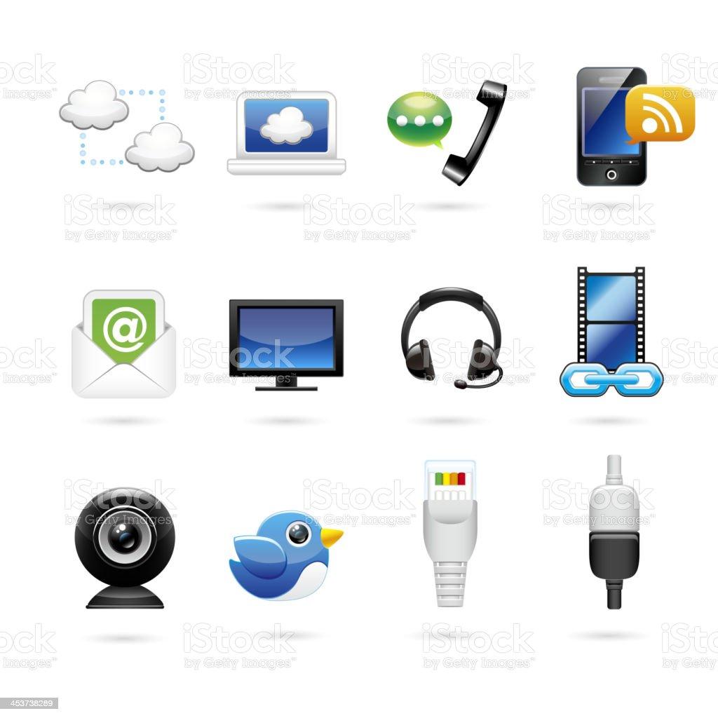 Communication & Internet Icon Set royalty-free stock vector art