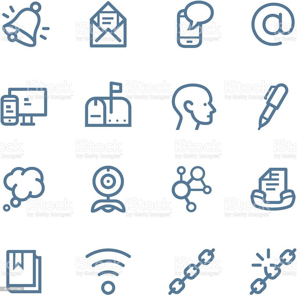 Communication Line icons vector art illustration