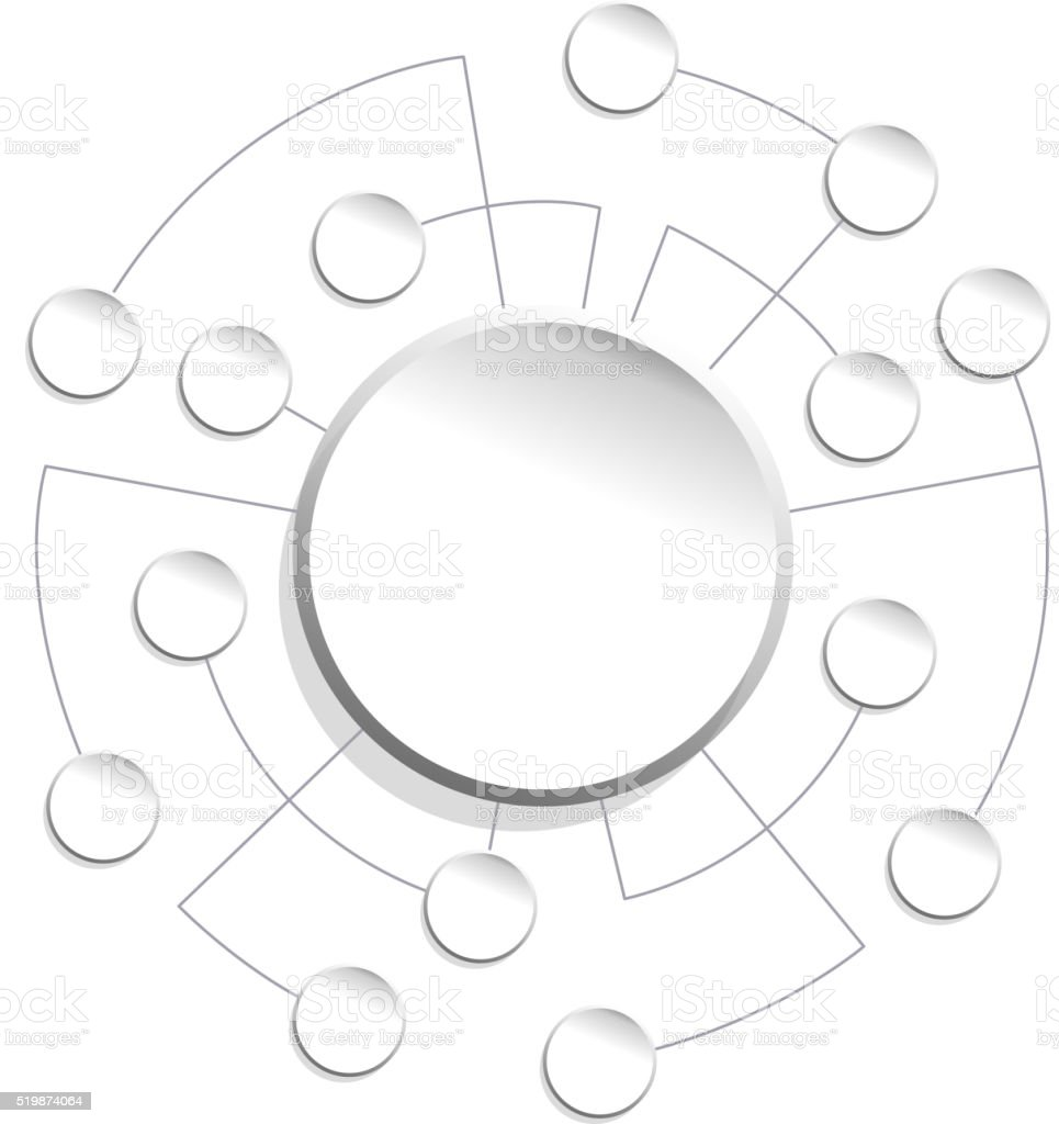 communication links vector art illustration