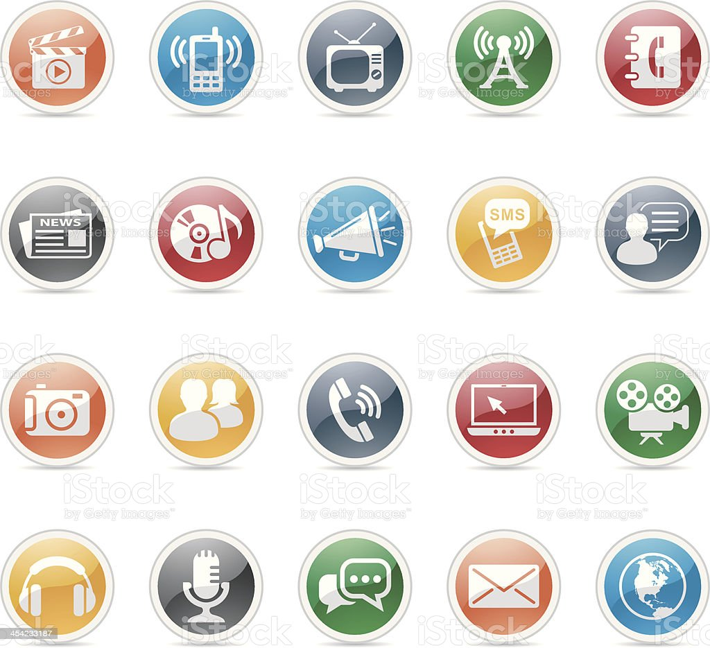 communication media and icons royalty-free stock vector art