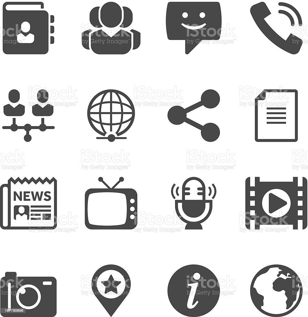Communication & Media Icon Set | Unique Series vector art illustration