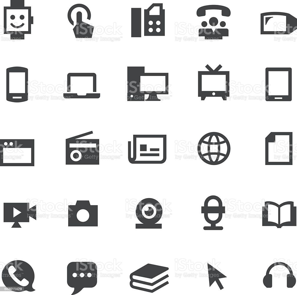 Communication Media Icons - Smart Series vector art illustration