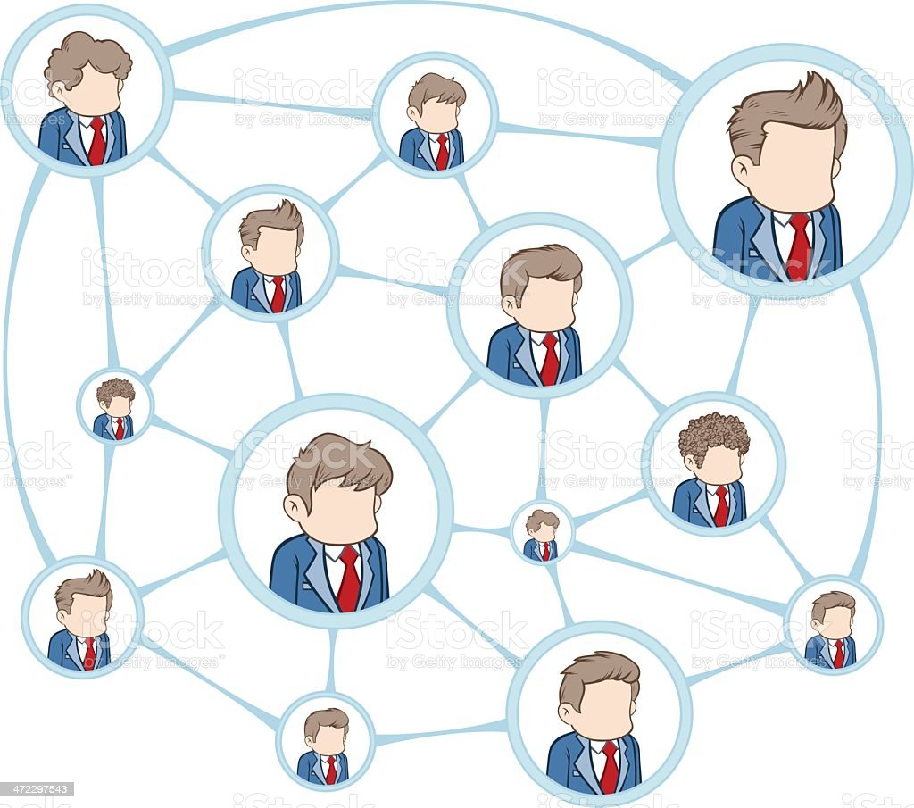 Communication Network royalty-free stock vector art