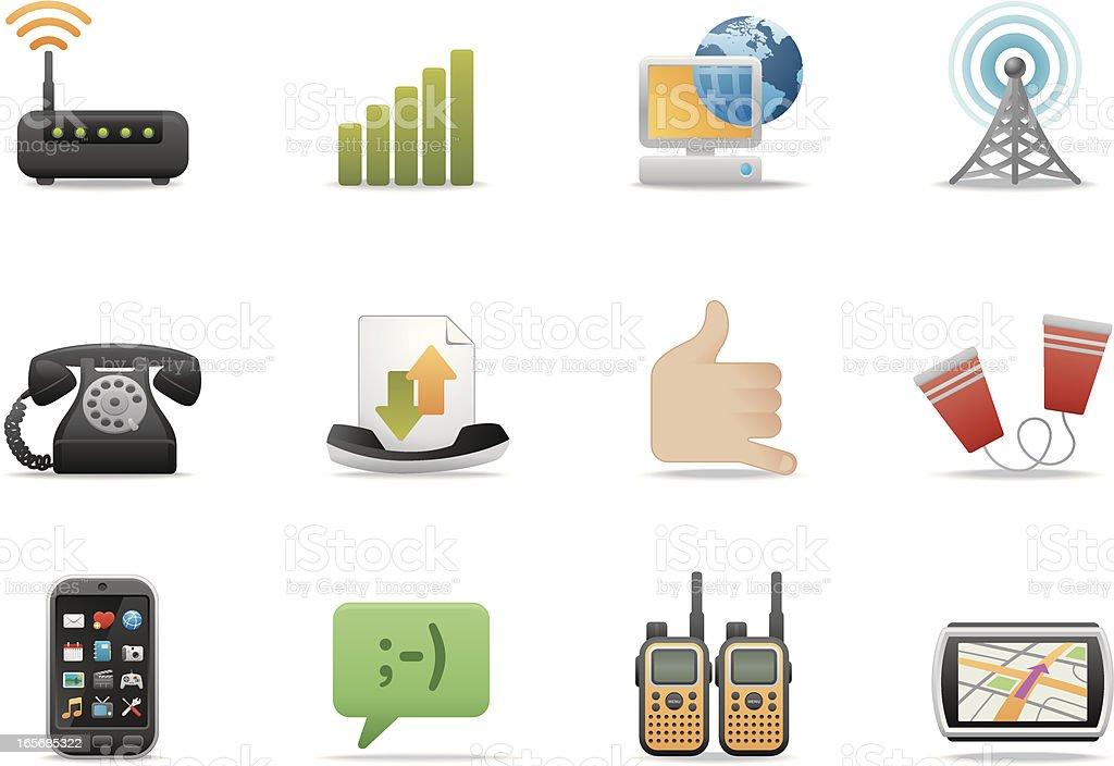 Communication & Networking icons   Premium Matte series vector art illustration