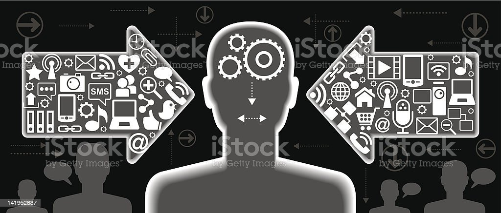 communication people royalty-free stock vector art