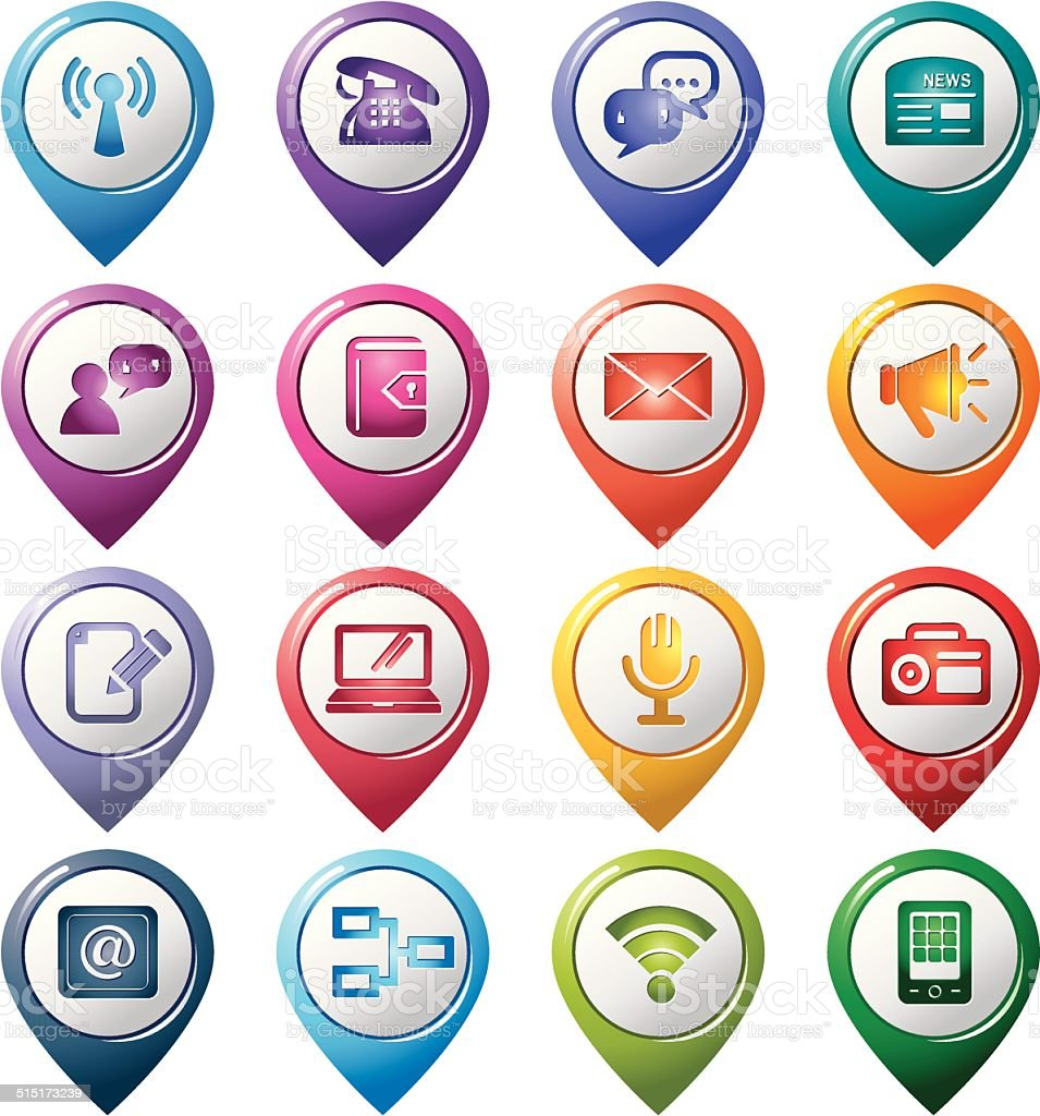 Communication Pointer Icons01 vector art illustration