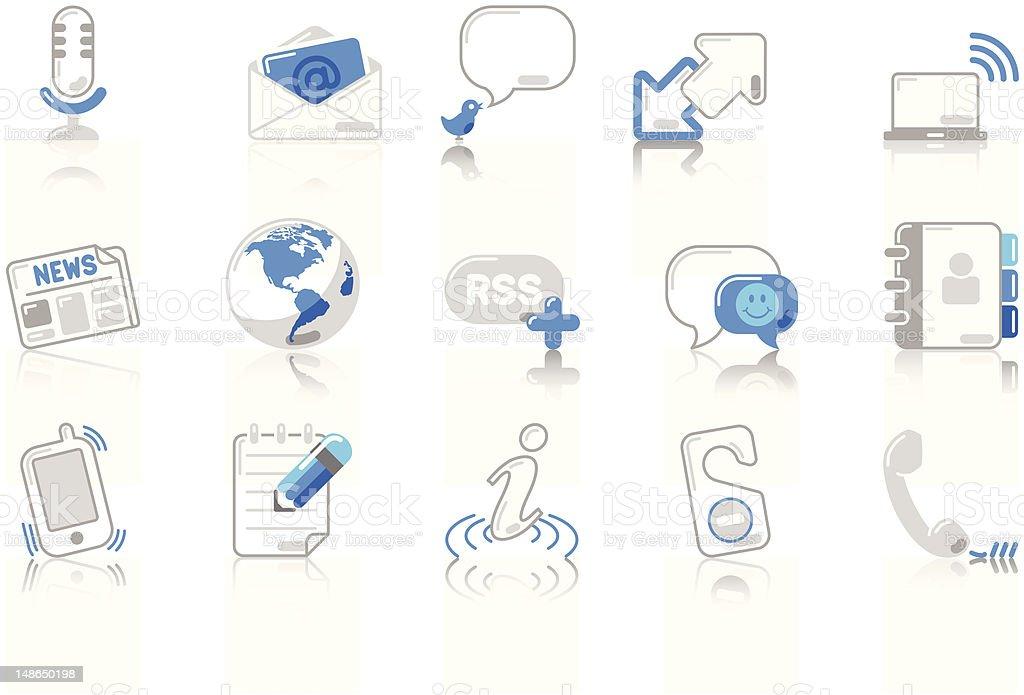 Communication - SunnydayBLUE Series royalty-free stock vector art