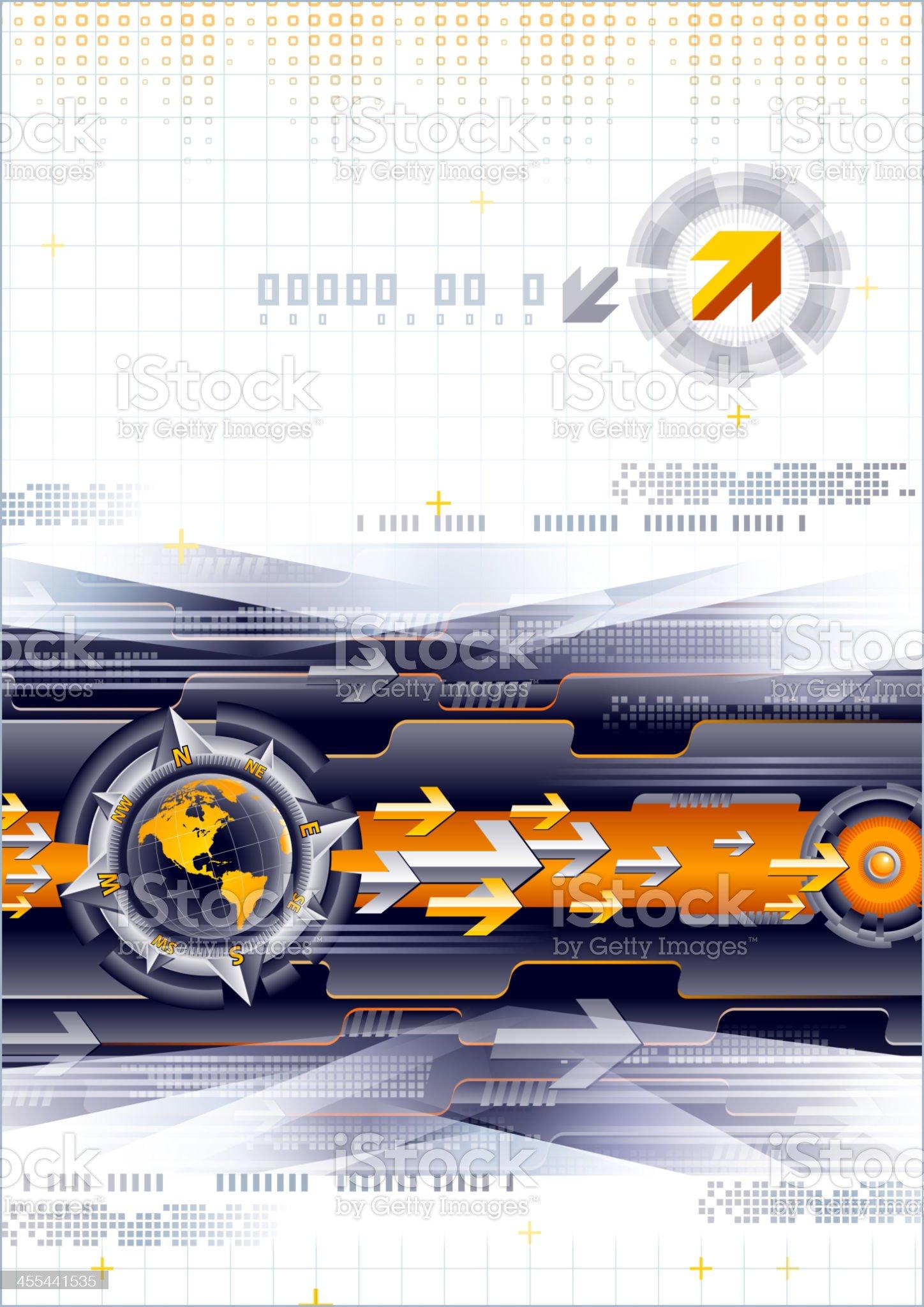 Communication technology style royalty-free stock vector art
