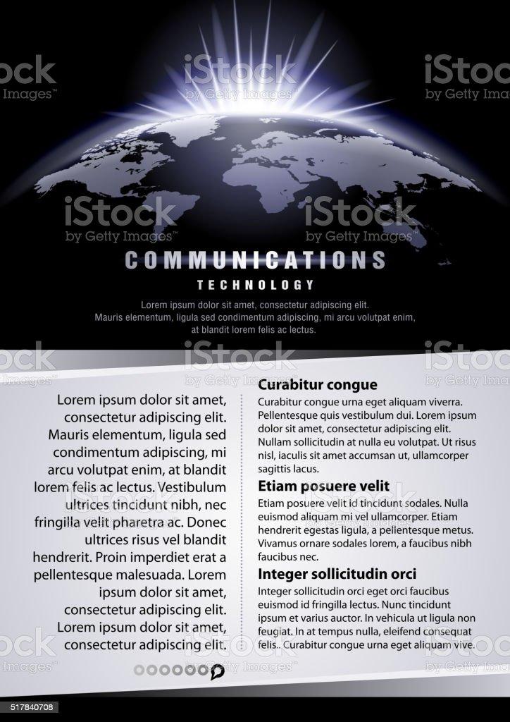 Communication technology vector art illustration