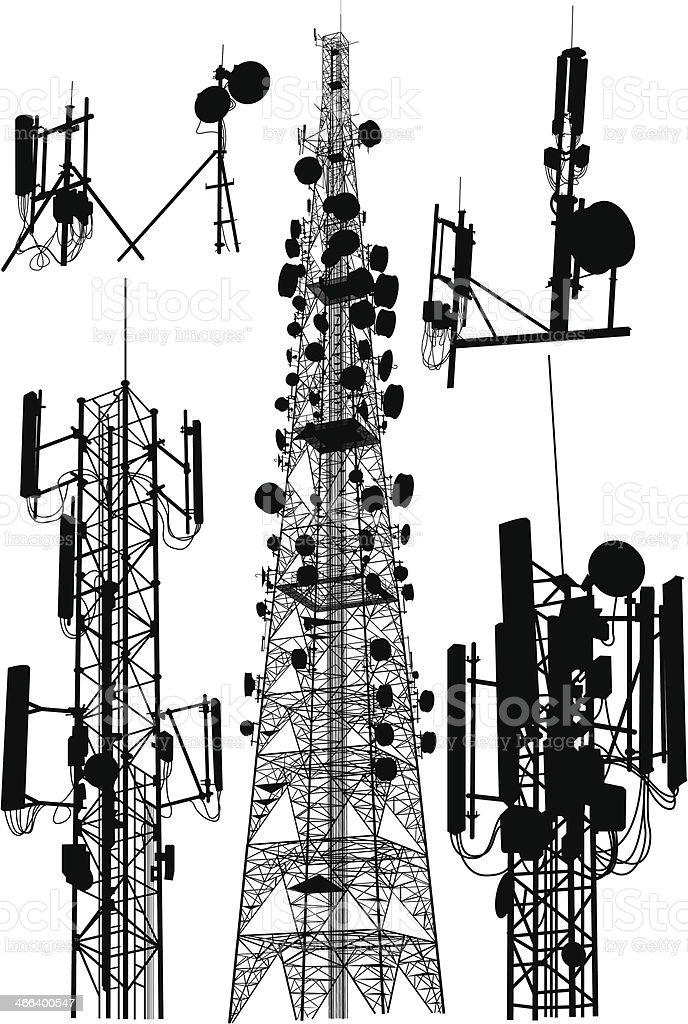 Communication Tower vector art illustration