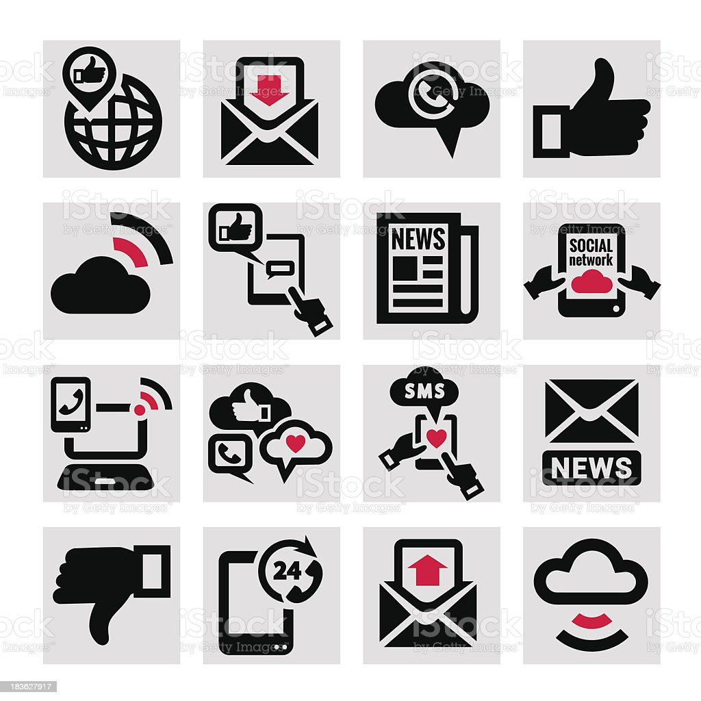 communication vector icons set royalty-free stock vector art