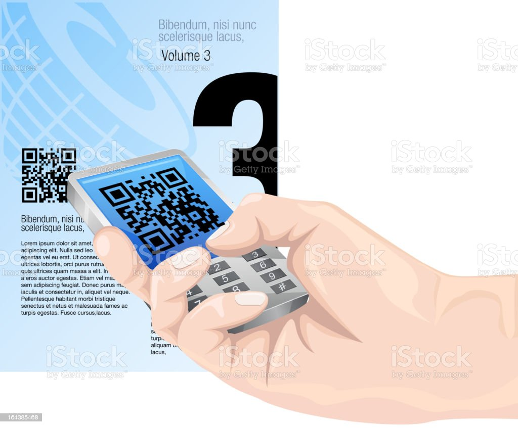 QR Communication royalty-free stock vector art