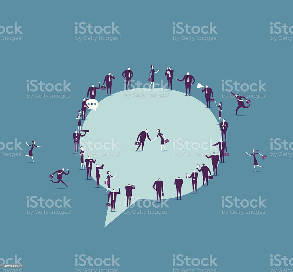 Communication vector art illustration