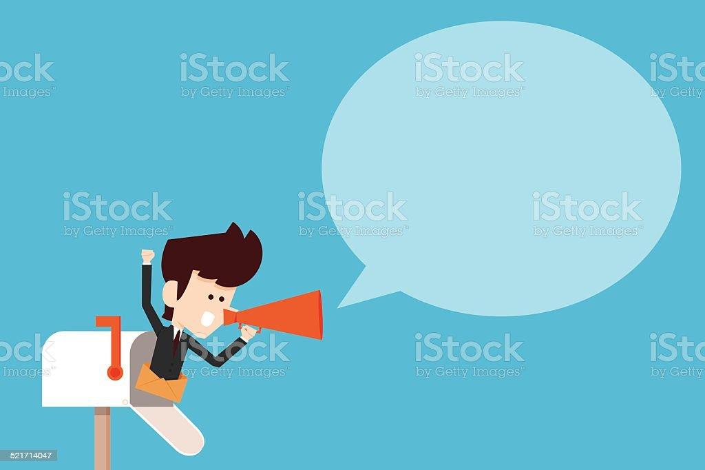 Communication vector art illustration
