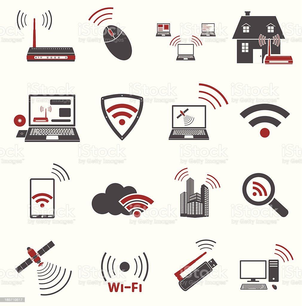 Communication web icons vector art illustration